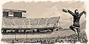Psu Posters - Stadium Cheer Black and White Poster by Gallery Three