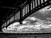 Baseball Stadiums Framed Prints - Stadium Top Framed Print by Amy Kurutz
