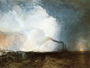 Romanticism Posters - Staffa Fingals Cave 1832 Poster by Joseph Mallord William Turner