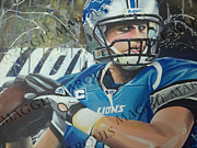 Detroit Lions Paintings - Stafford by Maggie Marquis