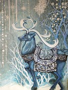 Storybook Prints - Stag King Print by Janine Riley