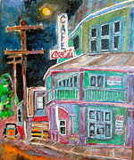Laurentians Paintings - St.Agathe St Vincent 1940s by Michael Litvack