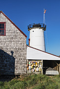 Keepers House Photos - Stage Harbor Light by John Greim