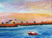 Chatham Painting Originals - Stage Harbor Sunset by Michael Helfen
