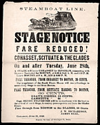 Stagecoach Posters - Stage Notice Poster by Gary Grayson