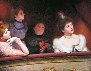 Spectators Paintings - Stage or Au Theatre by Federico Zandomeneghi