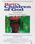 Nicole Jean-louis Paintings - Staged Reading To Benefit Haitian Earthquake Relief by Nicole Jean-Louis