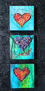 Hearts Mixed Media - Stages of the Heart by Donna Martin