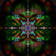 Fractal Digital Art - Stained Glass 111 by Kiki Art