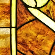 Church Glass Art Prints - Stained Glass 2 Print by Tom Druin