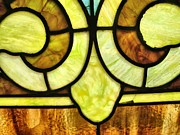 Church Glass Art Prints - Stained Glass 3 Print by Tom Druin