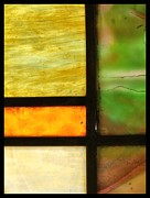 Green Glass Art - Stained Glass 5 by Tom Druin