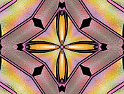 Contemporary Digital Art Photo Posters - Stained Glass 6 Poster by Cheryl Young