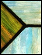 Landscape Glass Art Framed Prints - Stained Glass 6 Framed Print by Tom Druin