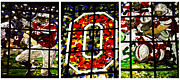 Top Seller Prints - Stained Glass at the Horseshoe Print by David Bearden