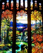 New York  The Metropolitan Museum Of Art Prints - Stained Glass Print by Christina Wysocki