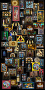 Glasswork Framed Prints - Stained Glass Collage Framed Print by Thomas Woolworth