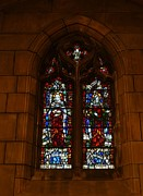 Repent Framed Prints - Stained Glass In New York City Framed Print by Dan Sproul