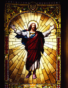 Stained Glass Jesus Print by Mountain Dreams