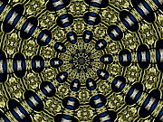 Rose Santuci-sofranko Posters - Stained Glass Kaleidoscope 01 Poster by Rose Santuci-Sofranko