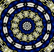 Rose Santuci-sofranko Posters - Stained Glass Kaleidoscope 05 Poster by Rose Santuci-Sofranko