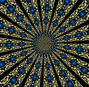 Rose Santuci-sofranko Posters - Stained Glass Kaleidoscope 06 Poster by Rose Santuci-Sofranko