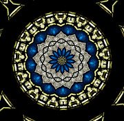 Rose Santuci-sofranko Posters - Stained Glass Kaleidoscope 07 Poster by Rose Santuci-Sofranko