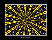 Avant Garde Photograph Posters - Stained Glass Kaleidoscope 8 Poster by Rose Santuci-Sofranko
