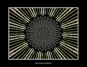Avant Garde Photograph Posters - Stained Glass Kaleidoscope 9 Poster by Rose Santuci-Sofranko
