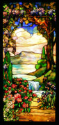 Stained Framed Prints - Stained Glass Framed Print by Kristin Elmquist
