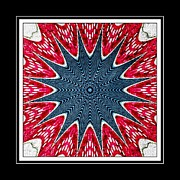 Repeat Patterns Digital Art Posters - Stained Glass Lace - Kaleidoscope Poster by Barbara Griffin