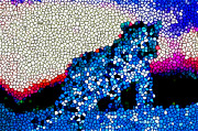Christian Artwork Paintings - Stained Glass Leopard 1 by Lanjee Chee
