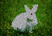 Christian Artwork Paintings - Stained Glass Rabbit by Lanjee Chee