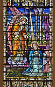 Catholic Fine Art Posters - Stained Glass Poster by Susan Candelario