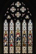 St Margaret Photo Posters - Stained-Glass Window 1 Poster by Susie Peek-Swint