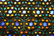 Stained Glass Window Photos - Stained glass window inside Junagarh Fort at Bikaner in India by Robert Preston