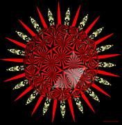 Stained Glass Window Kaleidoscope Polyhedron Print by Rose Santuci-Sofranko