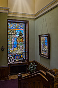 Art Of Building Prints - Stained Glass Window Memorial Print by Susan Candelario