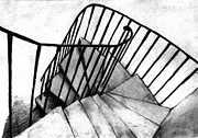 Staircase Drawings - Stair by Di Fernandes