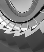Blacks Posters - Stair Steps - Abstract Poster by Steven Milner