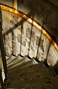 Stairs Photo Posters - Staircase Down Poster by Andrew Soundarajan