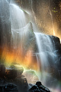 Ramona Falls Framed Prints - Staircase of Light Framed Print by Chris Moore