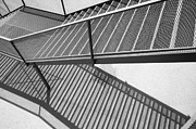 Staircase Railing Prints - Staircase With Shadow Print by Chevy Fleet