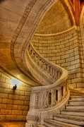 Stairs Of Mythical Proportion Print by David Bearden