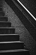 Black And White - Stairs Phoenix Art Musuem Monochrome by Bob Coates