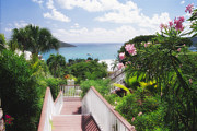 Charlotte Amalie Prints - Stairs to Paradise Print by George Oze