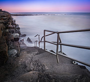 Jerseyshore Photo Originals - Stairs to Surf Heaven Panorama by Michael Ver Sprill