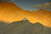 Buddhism Photos - Stairs to Tsemo by Aaron S Bedell