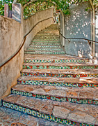 Riverwalk Posters - Stairway Poster by David and Carol Kelly