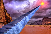 Stairway To Heaven Painting Framed Prints - Stairway to Heaven Framed Print by Dominic Piperata